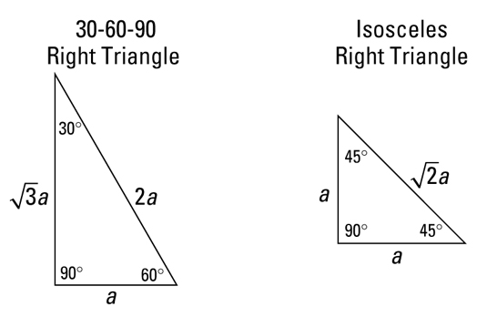 Special Right Triangles on electrical math formulas